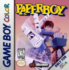 Paperboy box art for Game Boy Color