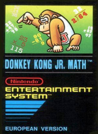 Donkey Kong Jr. Math box art for NES