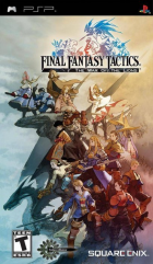 Final Fantasy Tactics: The War of the Lions box art for PSP