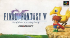 Final Fantasy V box art for Super NES