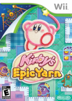 Kirby's Epic Yarn box art for Wii