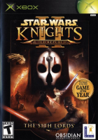 Star Wars: Knights of the Old Republic II: The Sith Lords box art for Xbox
