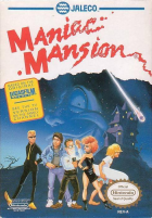 Maniac Mansion box art for NES