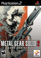 Metal Gear Solid 2: Sons of Liberty box art for PlayStation 2