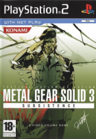 Metal Gear Solid 3: Subsistence box art for PlayStation 2