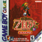 The Legend of Zelda: Oracle of Seasons and Oracle of Ages box art for Game Boy Color