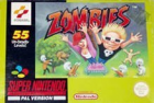 Zombies box art for Super NES