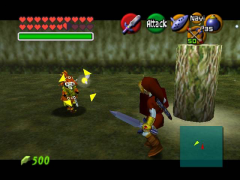 Skull Kid is hostile to adult Link in Ocarina of Time