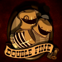Double Fine Logo - Stacking